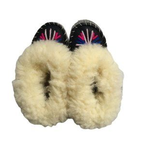 Handmade Unique Shearling Leather Moccasins
